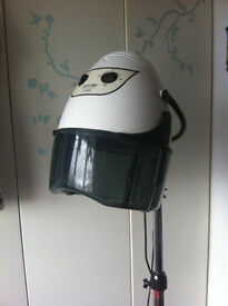 PROFESSIONAL SALON HAIR DRYER HOOD,WHITE & CHROME, EXCELLENT CONDITION
