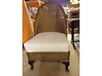 Nursing chair Lloyd Loom bedroom chair conservatory