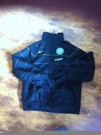 nike celtic black boys jacket