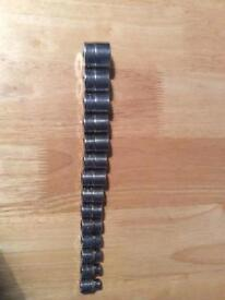 Snap on 3/8dr shallow sockets