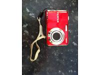 Fujifilm Camera 12MP Finepix AV120 Red - with battery, bag & SD card