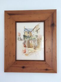 Michael Coopers Wooded Framed Picture