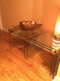 Glass Tables with chrome finishing 3mm thick