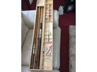 Sakura brand fishing tackle,fly rod 2top joints,1spinning joint,and boat rod.
