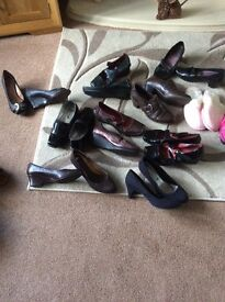 9 / pair of ladies mixed shoes size 7s