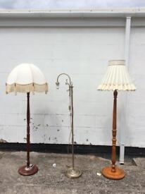 Vintage Standing Lamps with Lampshades