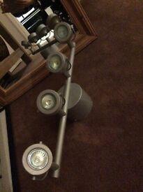 Series of four halogen lights