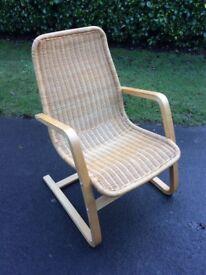 Ikea Poang style wicker chair