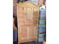 Kitchen Storage unit, reclaimed pine