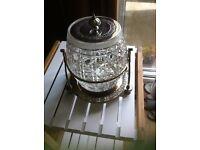 Very pretty Victorian Replica 1940 - 1950's Cut Glass Biscuit Barrel