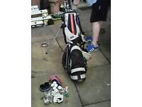 Full set of Golf Cubs with Golf Bag and Extras