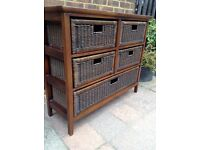 Wicker Drawers ... £45 .. Possible Delivery