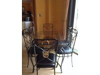 Matching Dining Table, 6 Chairs, Coffee Table, 2 x Side Tables and Bakers Rack