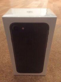 iPhone 7 factory unlocked 256gb black, new sealed