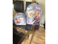 Disney frozen sparkly backpack/school bag and lunch bag