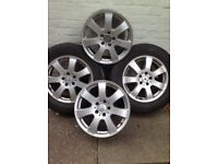 Mercedes Benz ML Alloy wheels full 4 set. S elling because I have a new set of alloys Excellent