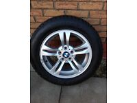 BMW ALLOYS WITH WINTER TYRES