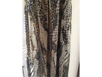 New Jane Norman Brown Animal Print Beach Dress/Cover Up Size Small
