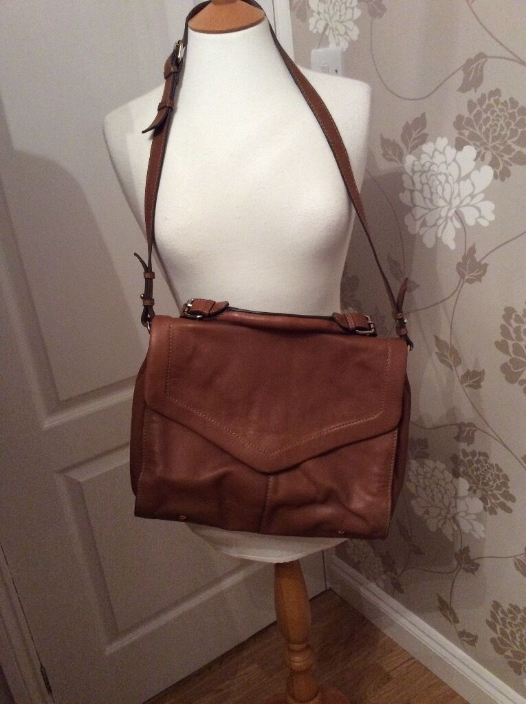Austin Reed Tan Leather Satchel