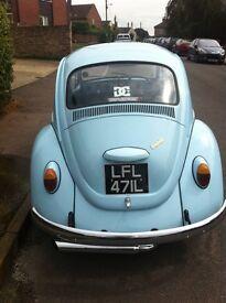 VW 1200 beetle 1972 tax exempt