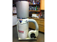 Axminster Single Bag Dust Extractor with Easy Clean 2 Micron Filter and Paddle, 240v
