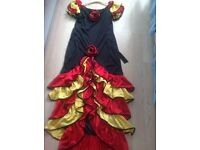 SPANISH LADY DRESSING UP OUTFIT - SIZE MED/LARGE