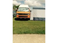 VW T25 CAMPER ORANGE 1.9 PETROL 1985