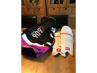 GM cricket bag and pads