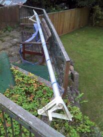 Outdoor pool cover roller, aluminium