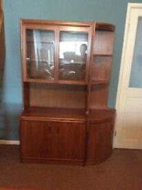 S Form Display and Corner Cabinet