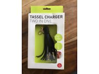 Tassel Two in One Charger - hook on your handbag