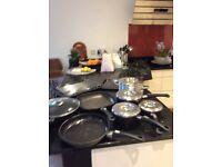 AGA saucepans and roasting dishes