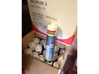 X36 tubes of grey or black silicone sealant adhesive fixing weatherproofing. BARGAIN,,,,,