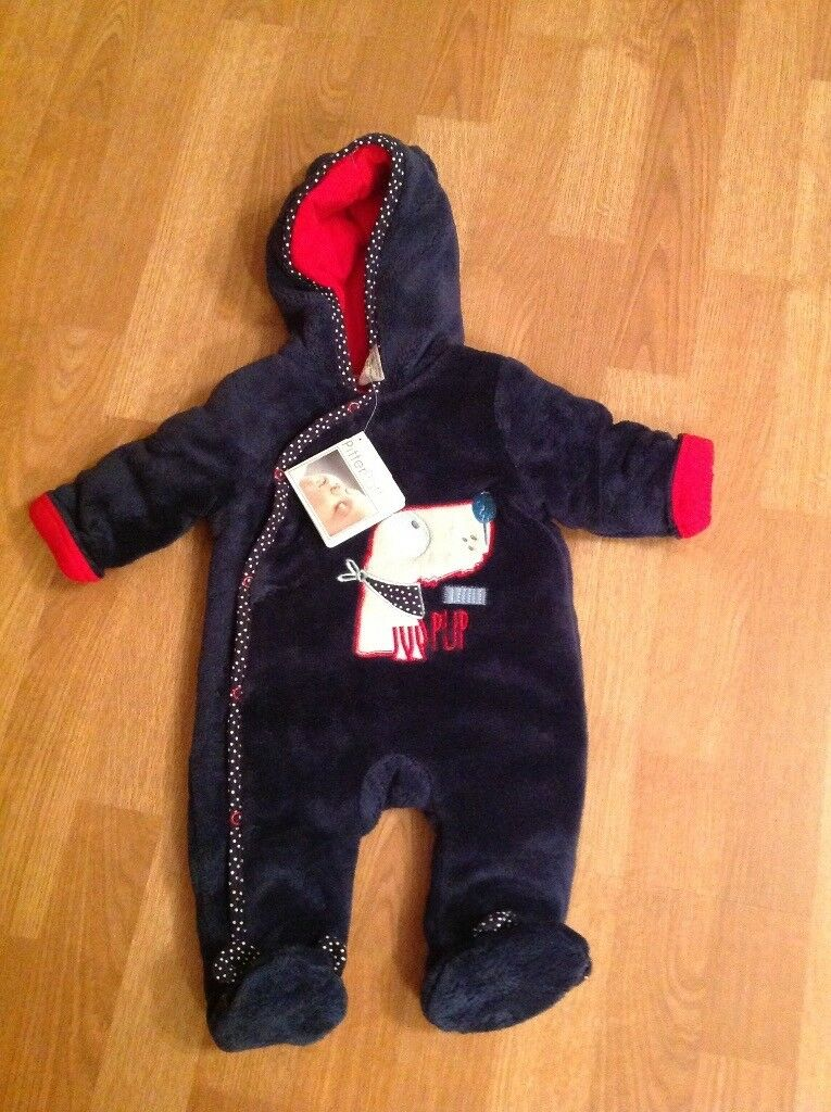 BRAND NEW BABY BOY SNOWSUIT - From Pitter Patter Size 0/3 Months