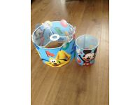 Mickey Mouse matching light and lamp shades