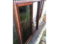 Sliding semi tinted French patio doors