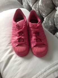 Ladies /youths size 4 pink adidas trainers