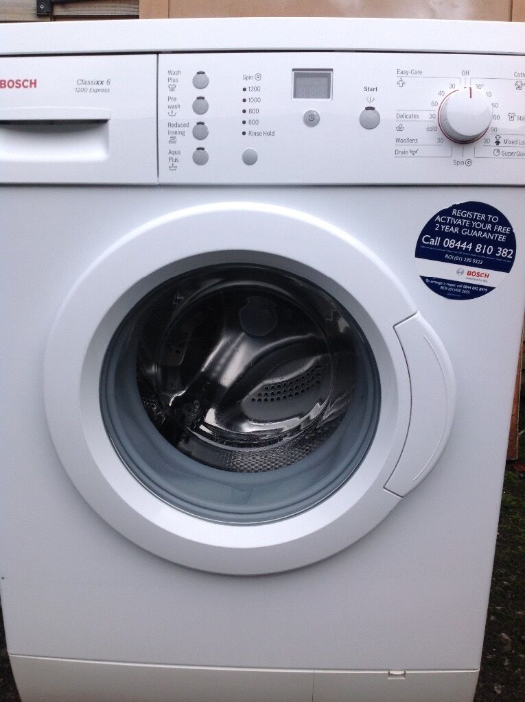 BOSCH WASHING MACHINEin Bradford, West YorkshireGumtree - Bosch washing machine fast 1200 spin and 6kg wash load in good clean condition and good working order has super fast wash and lots more very good wash cycles very good quality Bosch washer for only £80 also has digital display ring 07544514777 can...