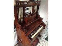 Antique Piano with Mirror