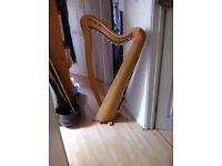 34 string Glenluce Lever Harp