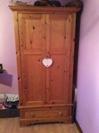 Bedroom furniture for sale including dresser unit complete with mirror, wardrobe, headboard, etc