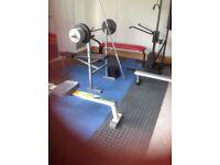 Various home gym equipment