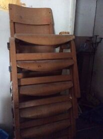**lovely cheap and stackable small kids/adults wooden chairs-Hackney**
