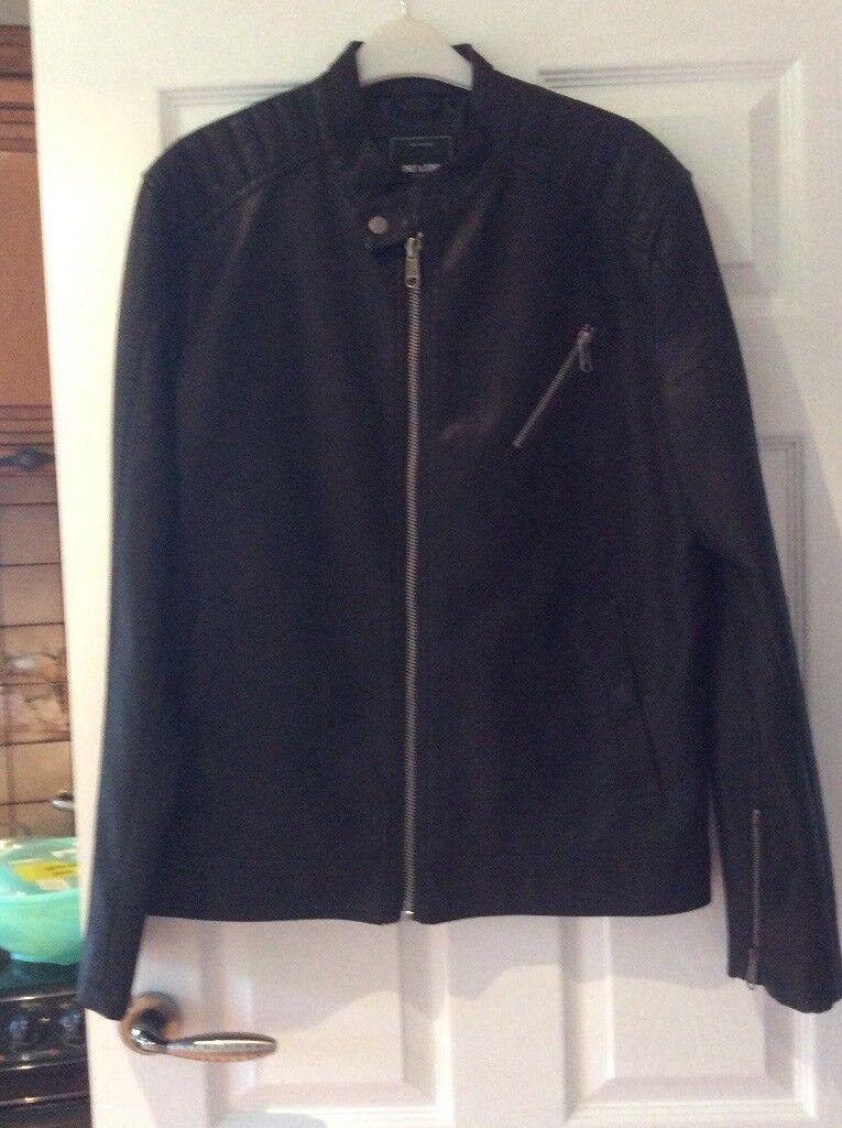 Brand new soft blacker leather biker style jacket