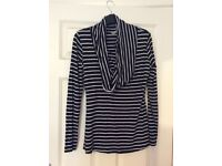 Jojomaman striped maternity nursing top (used but in great condition)