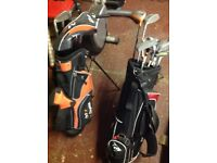 kids golf bag and clubs, 2 sets