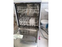 Hot point dishwasher. In great cond as it's rarely been used. Pipes ect included.
