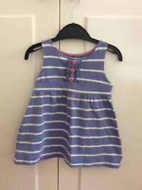 John Lewis Girls' Stripe Jersey Dress, Blue - 3 years
