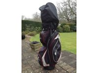 Golf clubs and nearly new bag