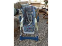 Sturdy adjustable high chair